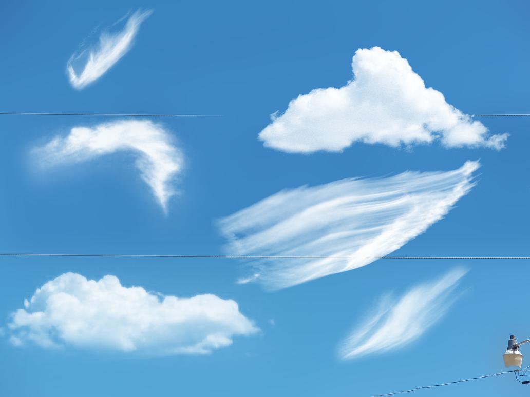 Cloud Photoshop Brushes - klejonka