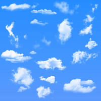 16 Cloud Brushes For Photoshop