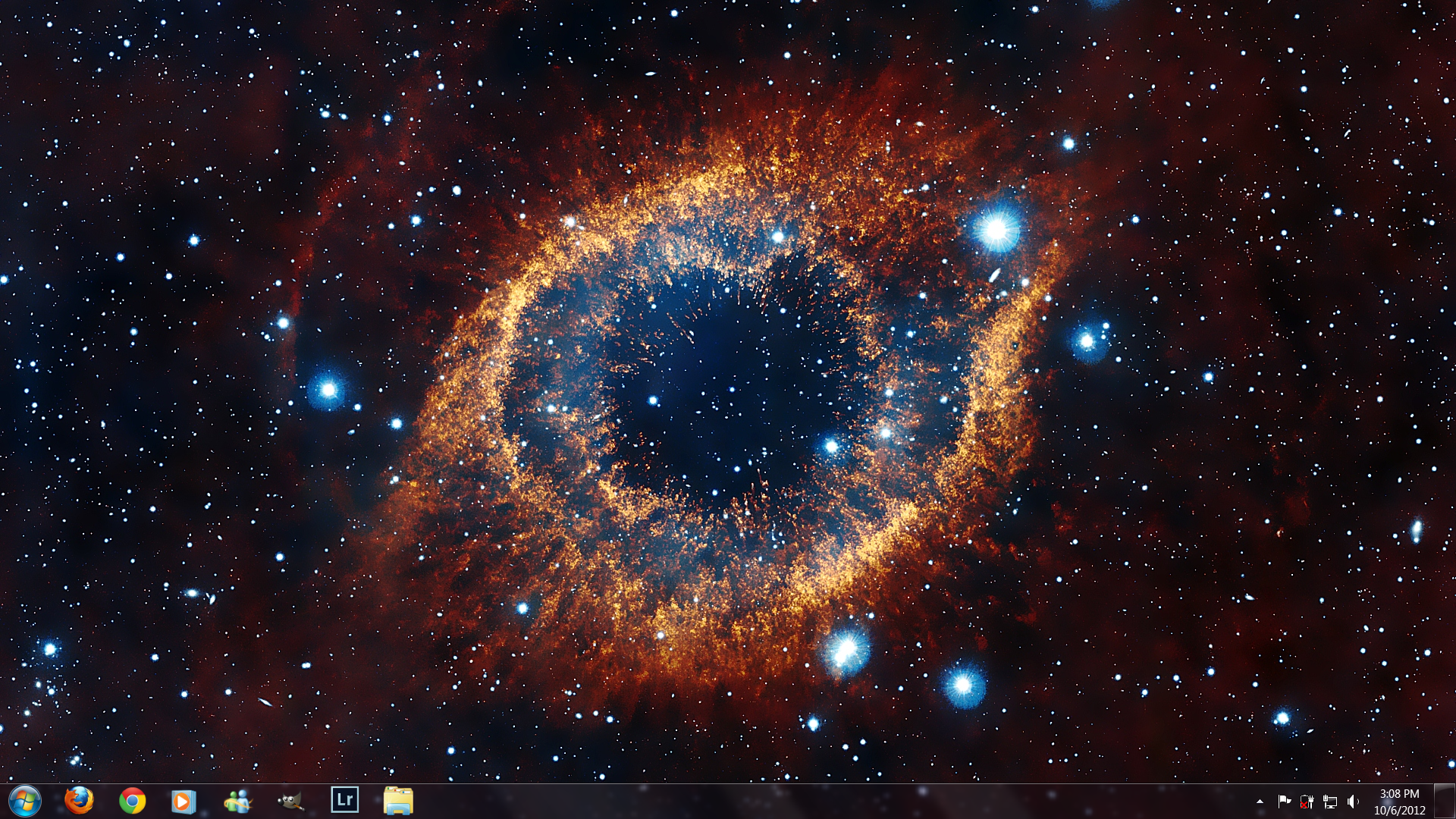 Infrared Visible Light Comparison View Of The Helix Nebula: Infrared Helix Nebula Wallpaper By Unstung On DeviantArt