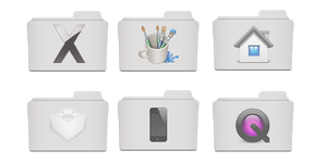 White Folder Icons Collection PSD