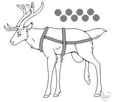 Reindeer Lines F2U by SonaAdopts