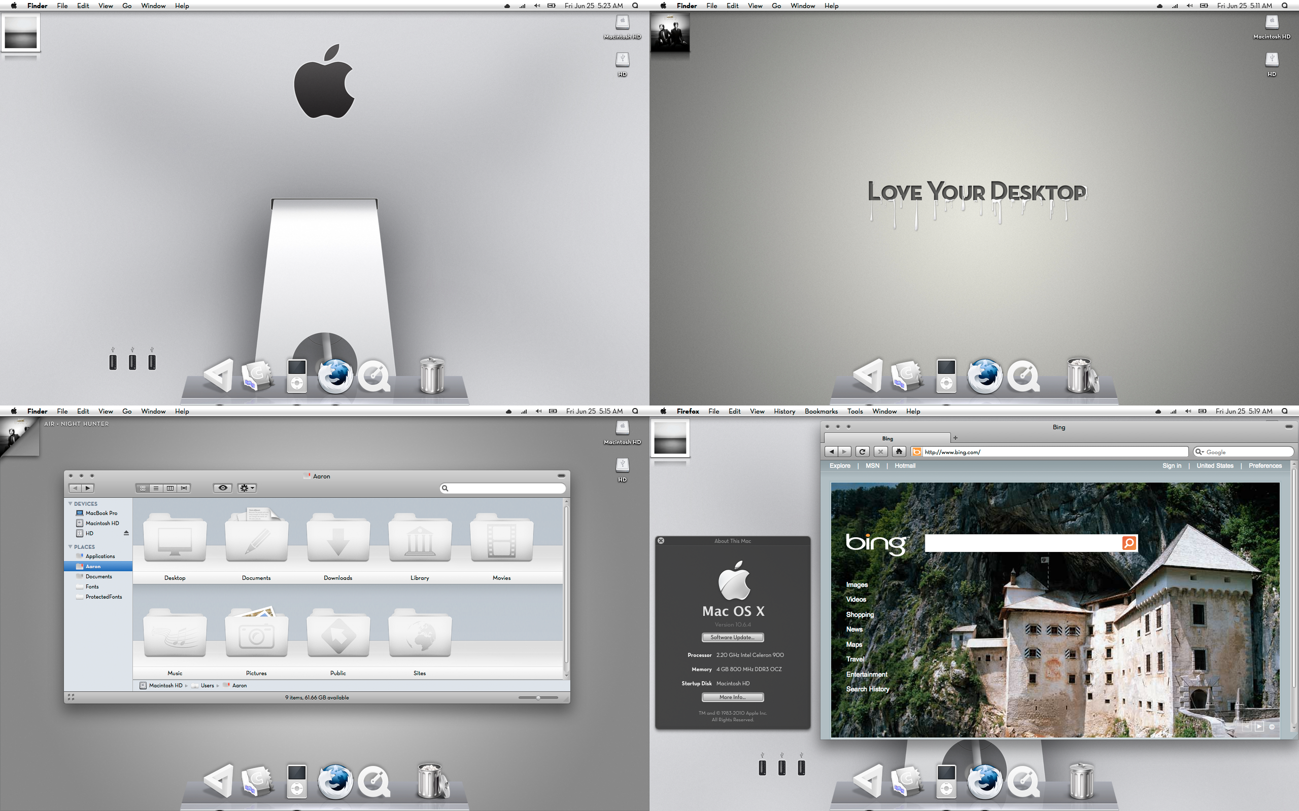 Snow Leopard White Theme by AaronOlive