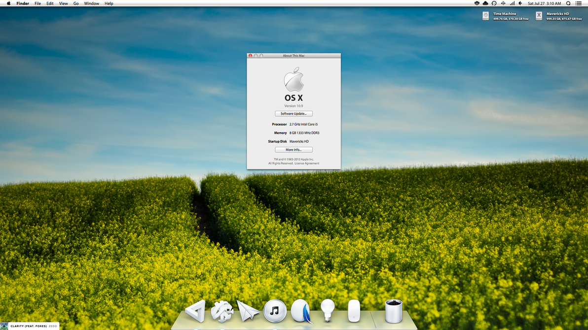 White Theme For OS X 10.9.2 by AaronOlive