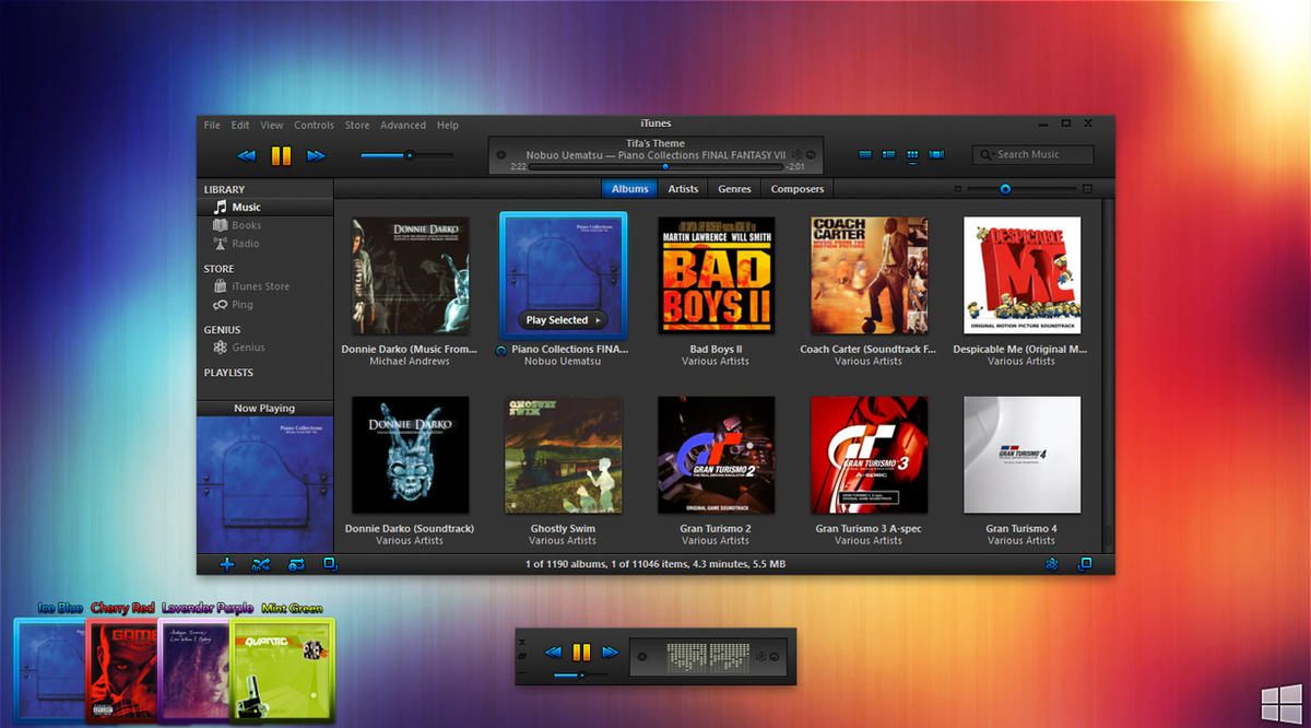 Ice iTunes Theme For Windows by AaronOlive