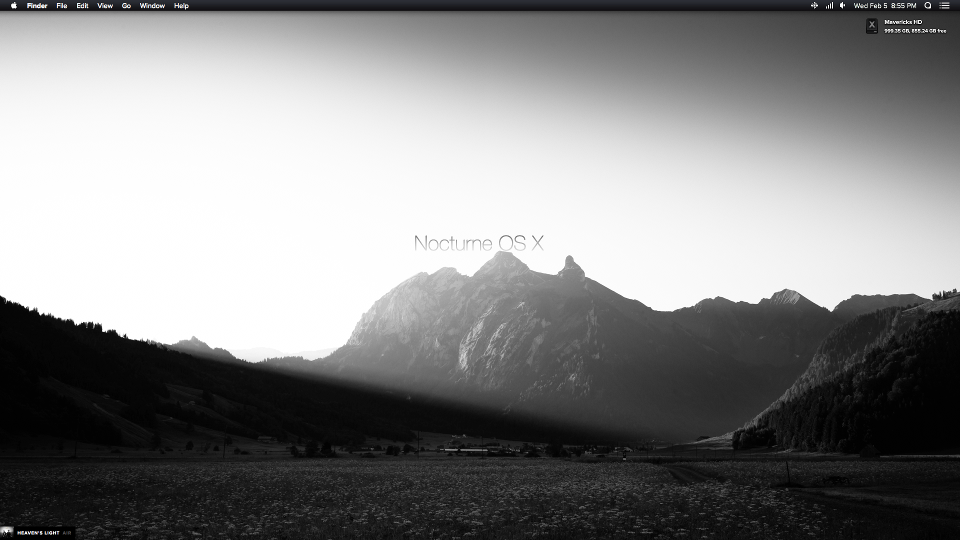Nocturne Theme For OS X 10.9.x