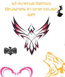 Brush set : Animal Tribal tats