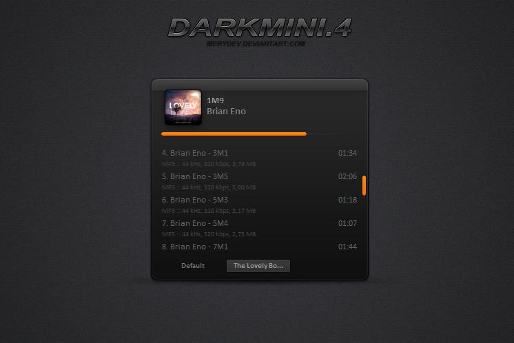 DARKMINI 4 [AIMP3] by MeryDev