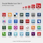 Free 28 Social Media Icons Set #1