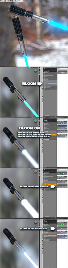 Free Lightsaber for G3F with obj included