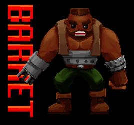 Barret Wallace Pixel-animation, Final Fantasy VII