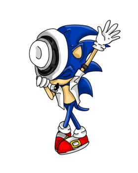 sonic running like a tard