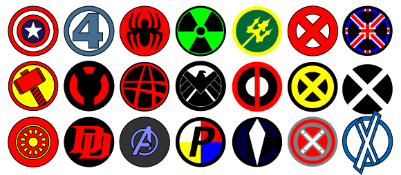 Vector Marvel logos by Sand3