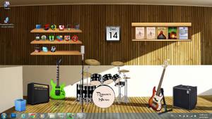 Rock band instruments Desktop rainmeter