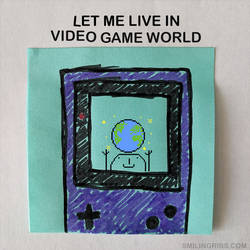 video game world by inkblort