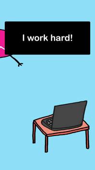 little purr man - i work hard!
