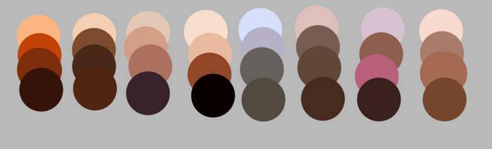 Skintone colourset for mangastudio 5 by MathildasDoubel