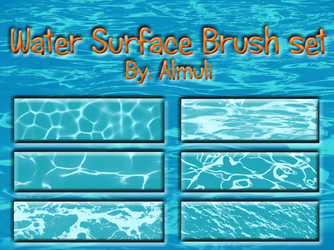 Water Surface Brush set for PS by Almuli