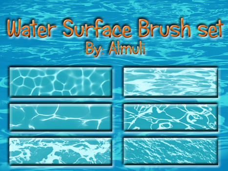 Water Surface Brush set for PS