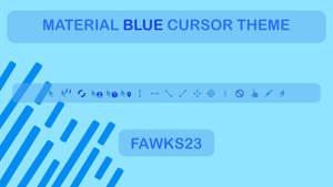 Material Blue Cursors