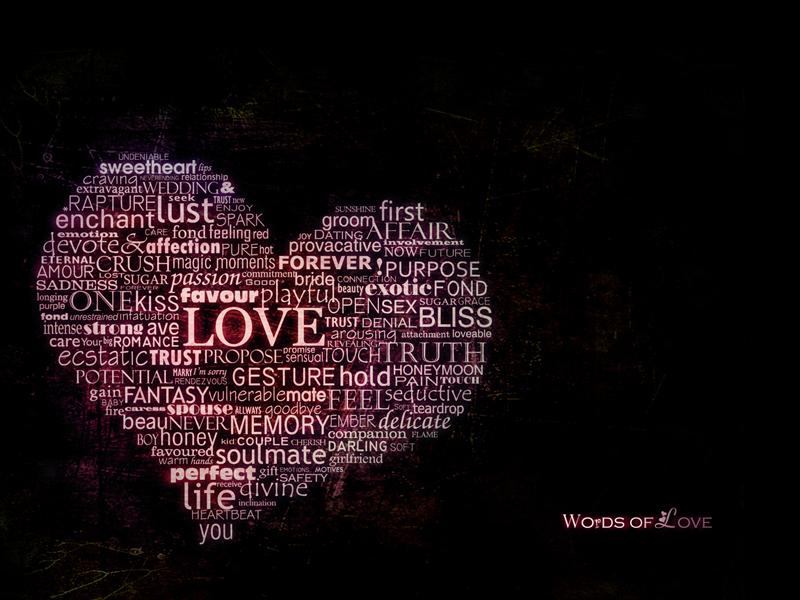 .Words of love. wallpaper pack