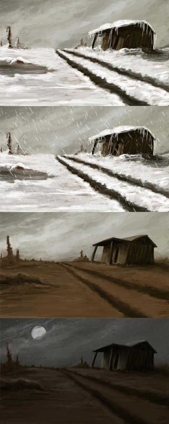 Wasteland - stock background by streamline69