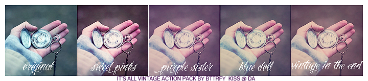 Vintage actionpack by BTTRFLYKISS