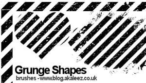 Grunge stripe shape brushes by akaleez88