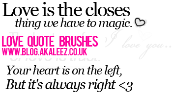 love quote brushes by akaleez88