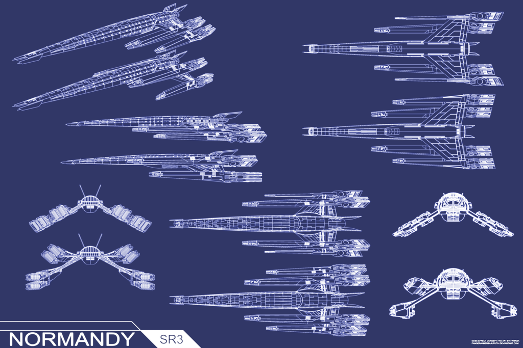 Normandy SR3 Concept BluePrint by pangeranberbajuputih