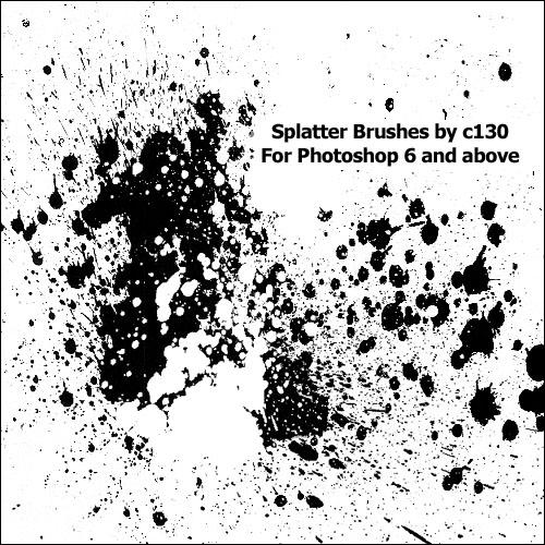 Splatter brushes by C130