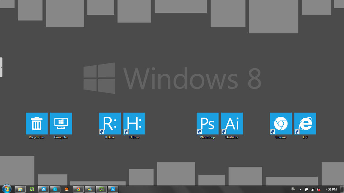 Windows 8 Style Icon And Wallpaper By H0p3bring3r On