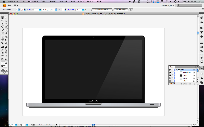MacBook Pro Illustrator Vector