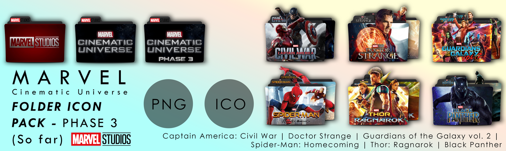 Marvel Movies Folder Icon