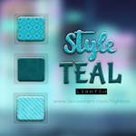 Styles Teal for Photoshop