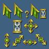 Emerald Cursor Set by starfire