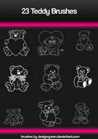 Photoshop Teddy Brushes by DesignQueen