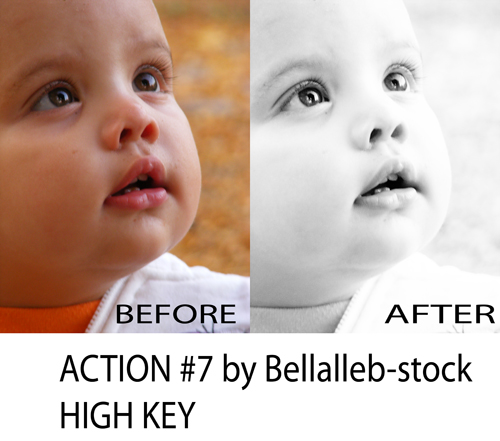 photoshop action no.7 HIGH KEY