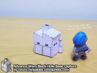 papercraft Advance Wars Base capture tutorial by ninjatoespapercraft
