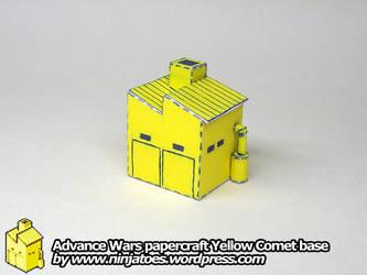 2D Advance Wars Base sprite into 3D papercraft by ninjatoespapercraft