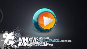 Windows Media player Icon by sargsyan