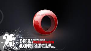 Opera Icon by sargsyan