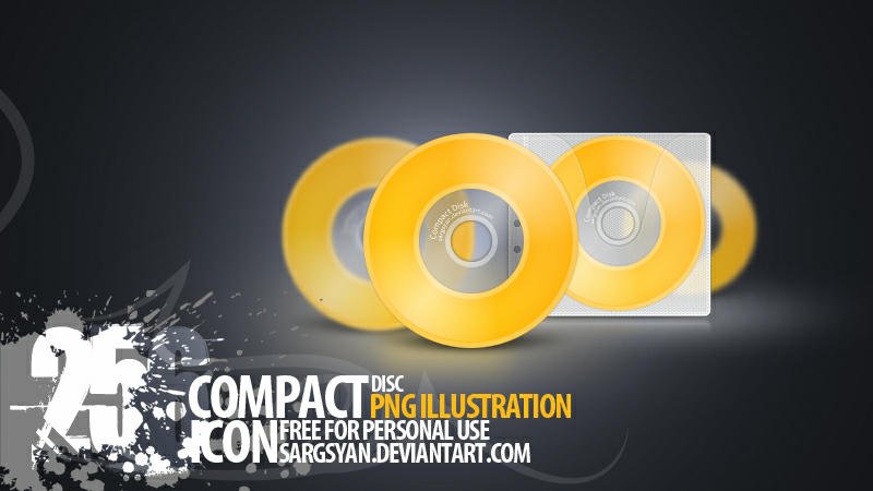 CD Icons by sargsyan