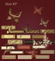 Golden vintage styles by Korolevatumana