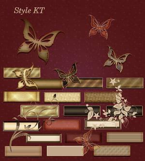 Golden vintage styles