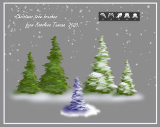 Christmas tree brushes from KT