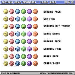 SoftSkin emoticons-Large icons