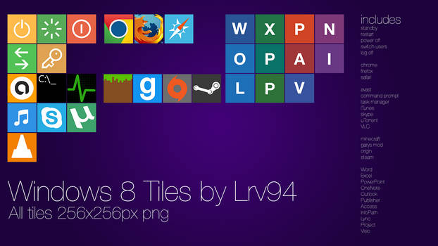 Windows 8 Tiles (For Obly Tile)