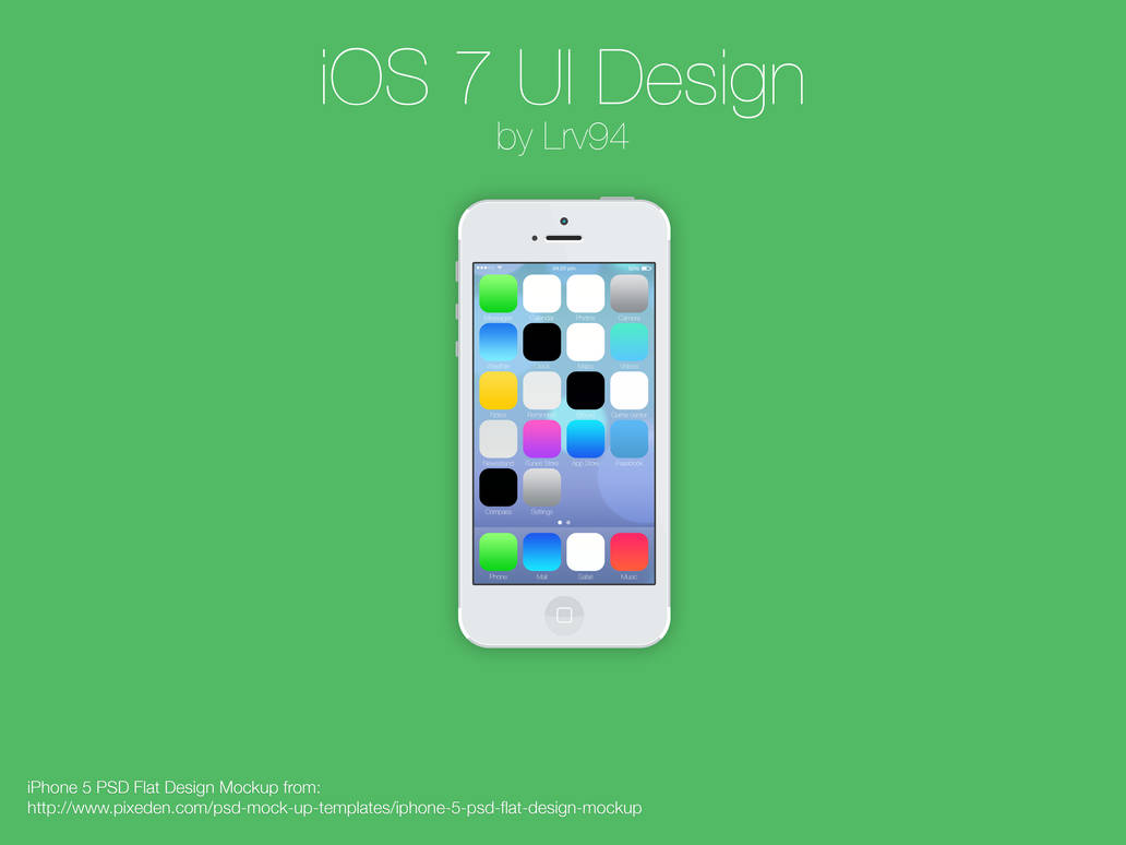 iOS 7 UI Design PSD by lrv94 on DeviantArt