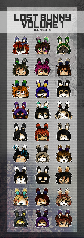 Lost Bunny Icon Set Volume 1 by UmmuVonNadia