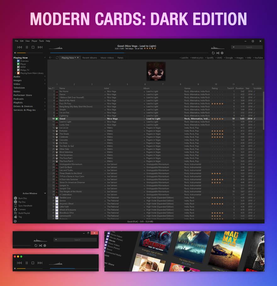 Modern Cards: Dark Edition [Update: 2016-01-26]